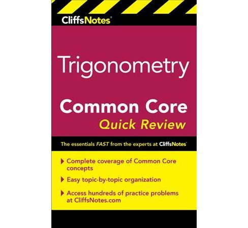 CliffsNotes Trigonometry Common Core Quick Review -  New by Ph.D. M. Sunil R. Koswatta (Paperback) - image 1 of 1