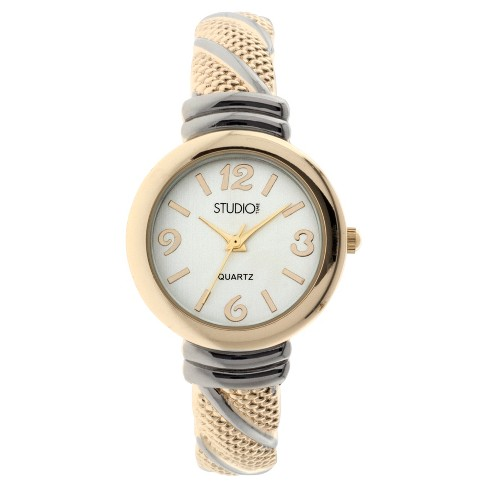 Women's Studio Time® Bangle Watch - Light Gold - image 1 of 1