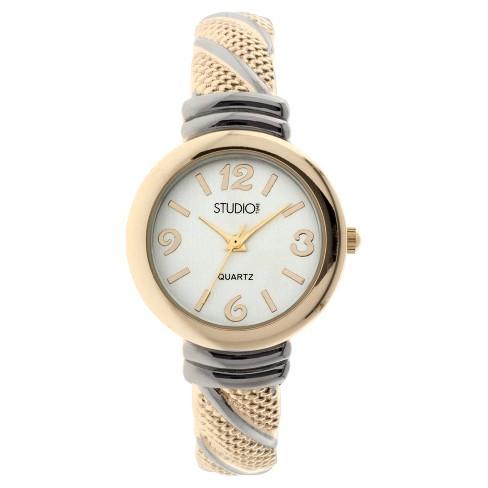 Women's Studio Time® Bangle Watch - Light Gold - image 1 of 1
