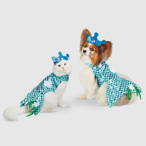 Mermaid Halloween Dog and Cat Costume - Hyde & EEK! Boutique™ - image 1 of 3