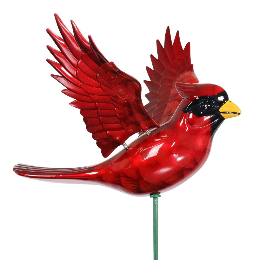 """Cheap 2pk 11"""" Plastic and Metal Windy Wings Cardinal Stakes - Exhart"""