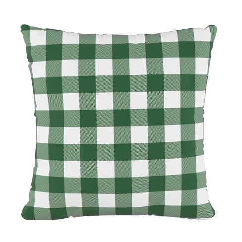 Check Square Throw Pillow Green/White   Cloth & Company : Target