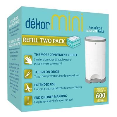 Dekor Mini Diaper Pail Refills - 2pk