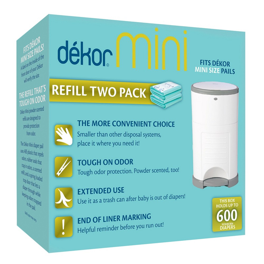 Image of Dekor Mini Diaper Pail Refills - 2pk, Green
