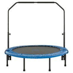"""Upper Bounce 48"""" Mini Foldable Rebounder Fitness Trampoline with Adjustable Handrail"""