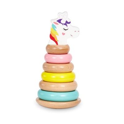 Wooden Critters Shape Stacker - Unicorn