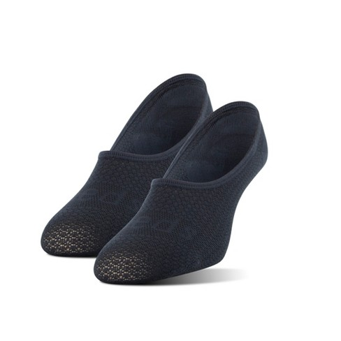 Peds Women's Mesh Sport Cut Tactel Nylon 2pk Liner Athletic Socks - Black 9-11 - image 1 of 2