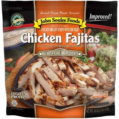 John Soules Foods Fully Cooked Chicken Fajitas - Frozen - 16oz