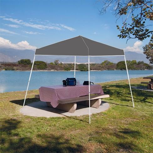 Z Shade 10 X Foot Angled Leg Taffeta Peak Style Canopy With Carry Bag Gray