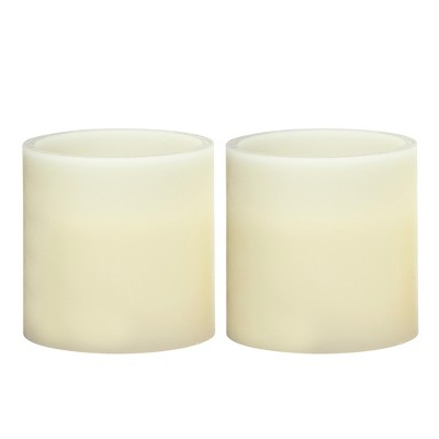 3  x 3  Vanilla Scented LED Pillar Candle Set Cream - Made By Design™