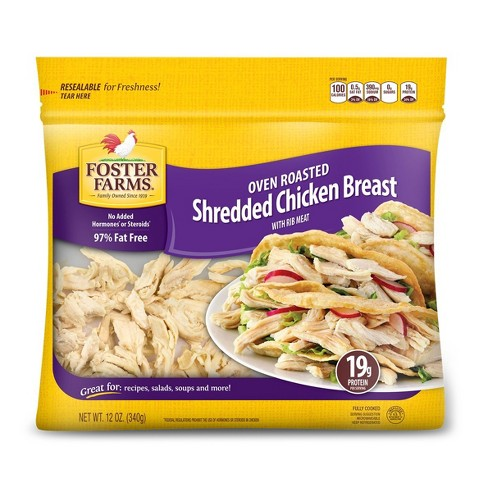 Foster Farms Shredded Chicken Breast -12oz - image 1 of 1
