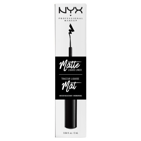 NYX Professional Makeup Matte Liquid Liner Black - 0.06oz - image 1 of 2