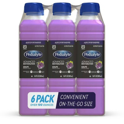 Pedialyte Electrolyte Drink - Grape - 101.4 fl oz/6pk