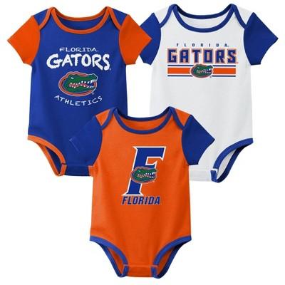 NCAA Florida Gators Baby Boys' 3pk Bodysuit Set