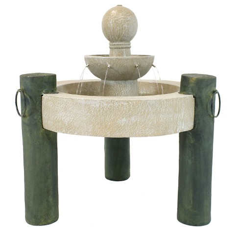"""37"""" Raised Cathedral Basin 2-Tier Outdoor Fountain - Sunnydaze Decor - image 1 of 6"""