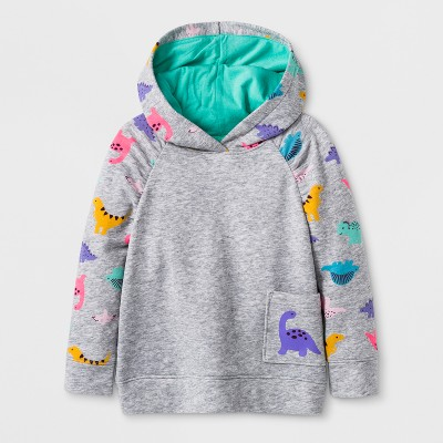 131cc859538 Toddler Girls Dino Hoodie Sweatshirt – Cat   Jack™ Gray 4T – Target ...