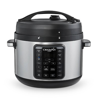 Crock-Pot Express Crock 10qt Pressure Cooker Slow Cooker 8-in-1 Multi-Cooker Stainless Steel