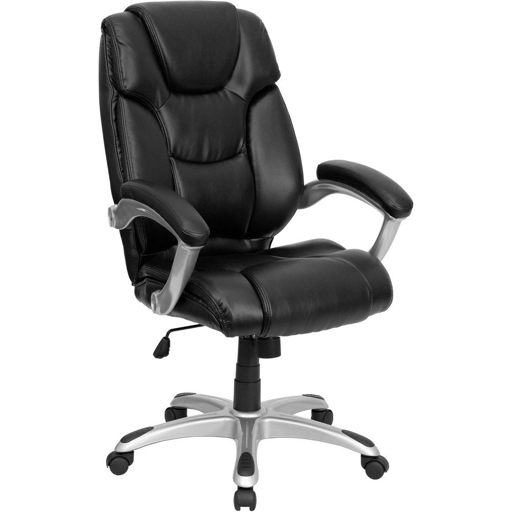 Executive Swivel Office Chair Black Leather - Flash Furniture