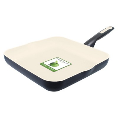 GreenPan Rio 10  Ceramic Nonstick Griddle Black