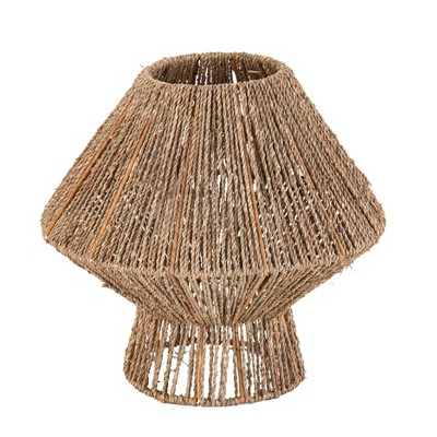 """13"""" Lotte Seagrass Pendant Shade Brown - Holly & Martin"""