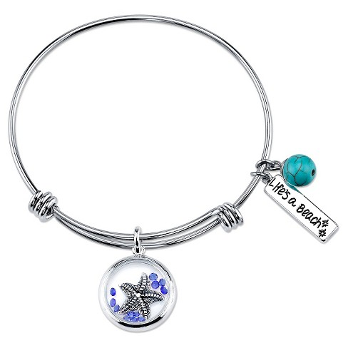 "Stainless Steel ""Life's A Beach"" Expandable Bracelet - 8"" - image 1 of 1"