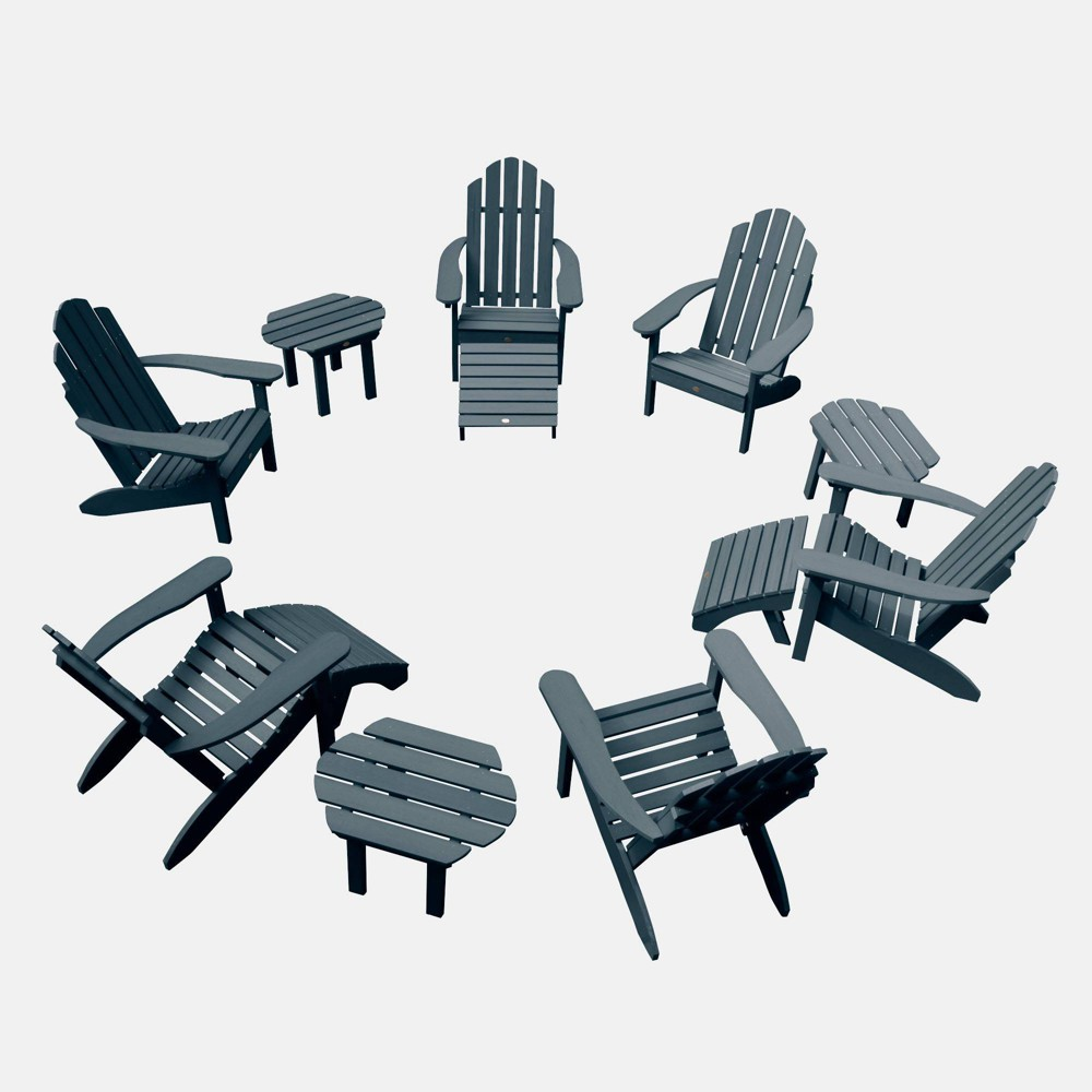 Image of 12pc Classic Westport Adirondack Patio Set Federal Blue - highwood