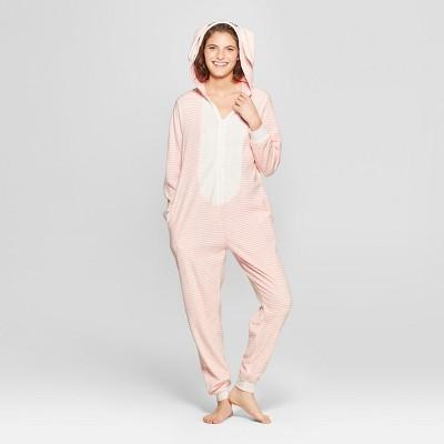 Women's Animal Print Bunny Union Suit - Xhilaration™ Pink M/L