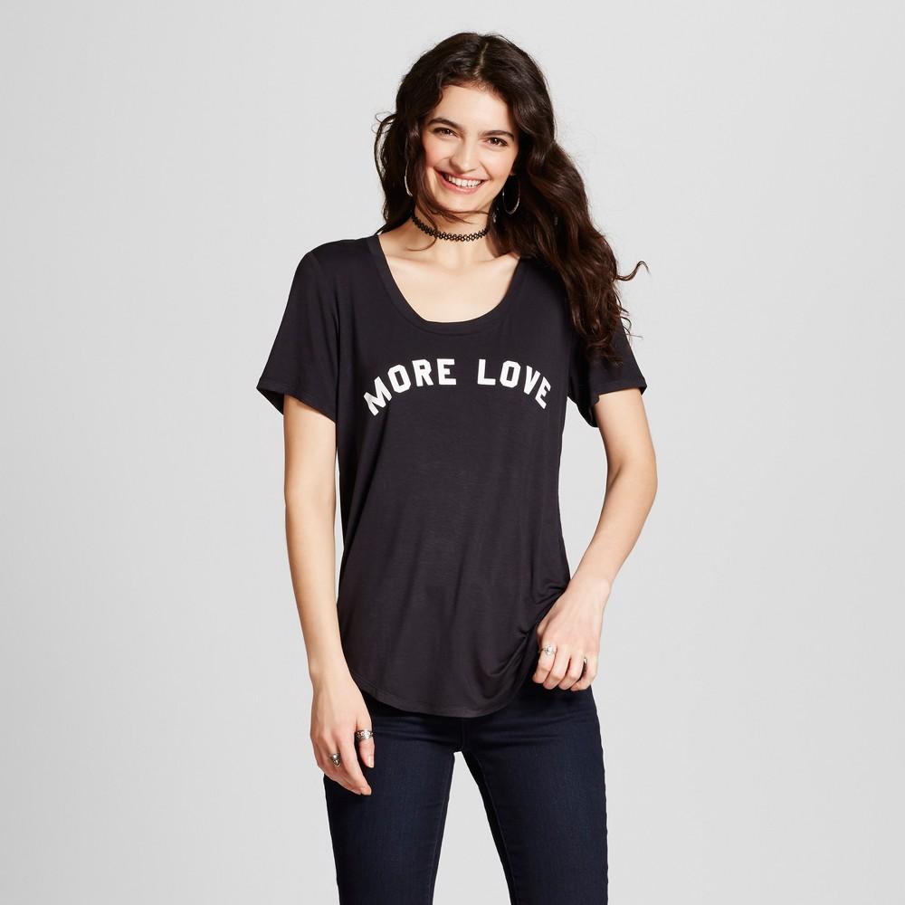 Women's More Love Graphic T-Shirt Black XL - Fifth Sun (Juniors')
