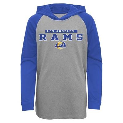 NFL Los Angeles Rams Boys' Long Sleeve Lightweight Hoodie