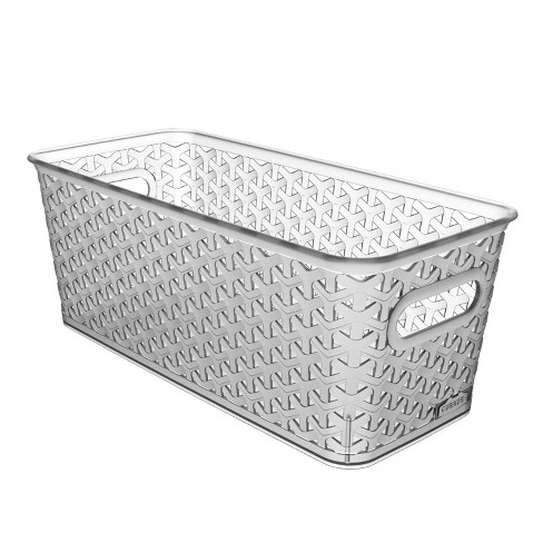 "Y Weave 5""x6"" Decorative Bin Clear - Room Essentials™ - image 1 of 1"