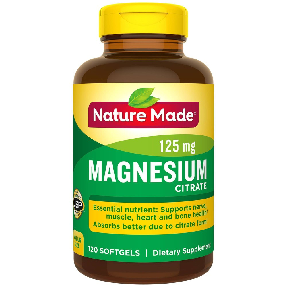 Nature Made Magnesium Citrate Softgels 250mg 120ct