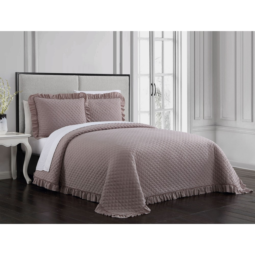 Image of 3pc King Gweneth Quilt Set Taupe - Geneva Home Fashion