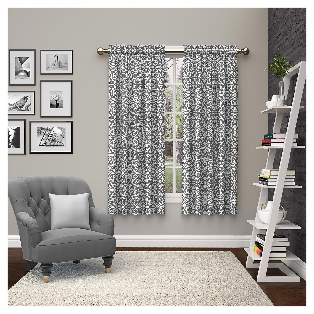 "Image of ""2pc Dewitt Curtain Panels Grey (28""""x63"""") Pairs to Go, Gray"""