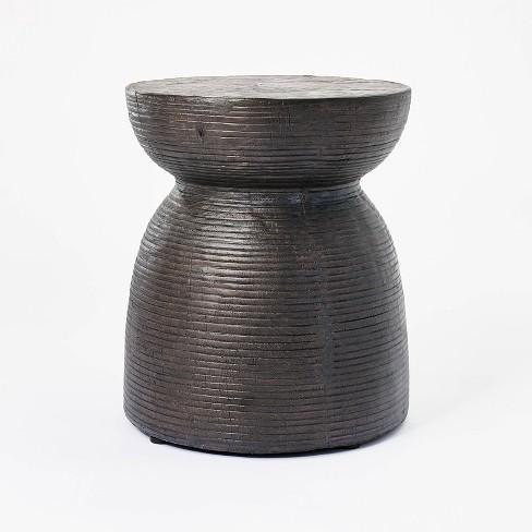 Grantsville Drum Accent Table Black - Threshold™ designed with Studio McGee - image 1 of 4