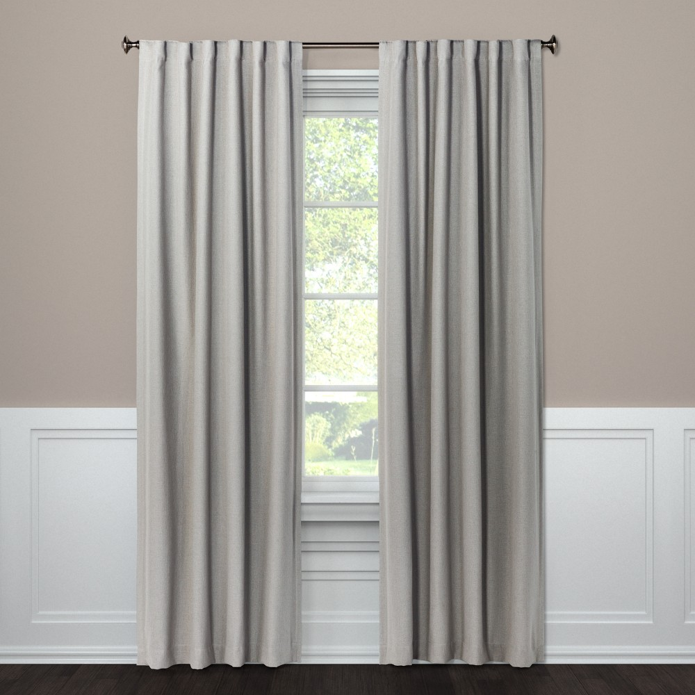 Blackout Curtain Panel Aruba Gray Stone 95 - Threshold