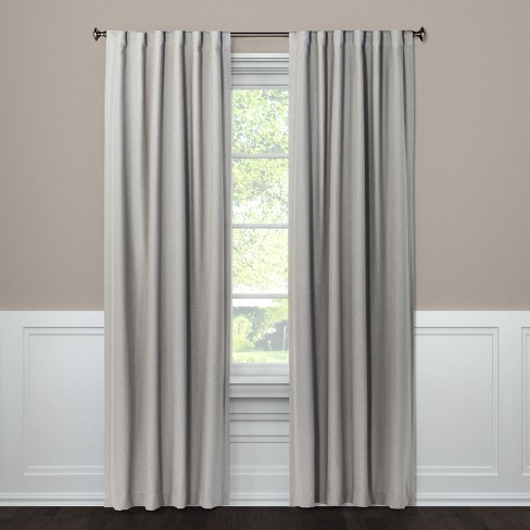 Blackout Curtain Panel Aruba Gray 95 Quot Threshold Target
