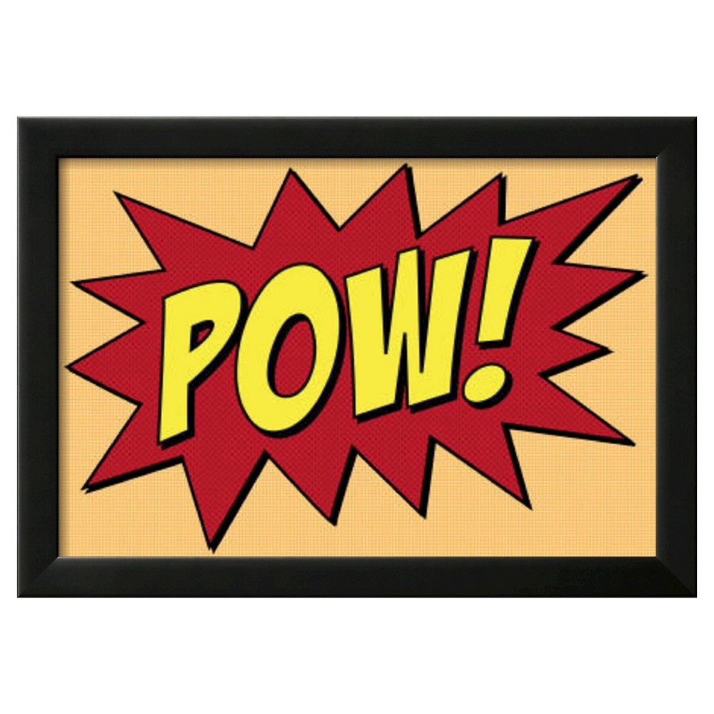 Art.com Pow Comic Pop Art Print Framed Poster, Red