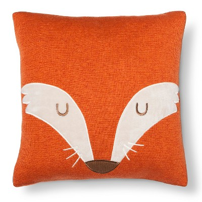 Fox Square Throw Pillow (14 X14 )Orange - Pillowfort™