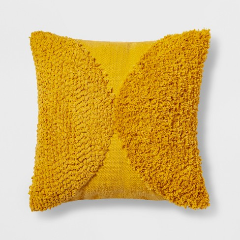 Tufted Half Circle Square Throw Pillow - Project 62™ - image 1 of 2