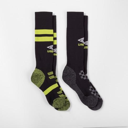 f7ce04ca72 Umbro 2pk Knee High Soccer Socks - Black   Target