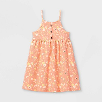 Toddler Girls' Rib Henley Tank Dress - art class™