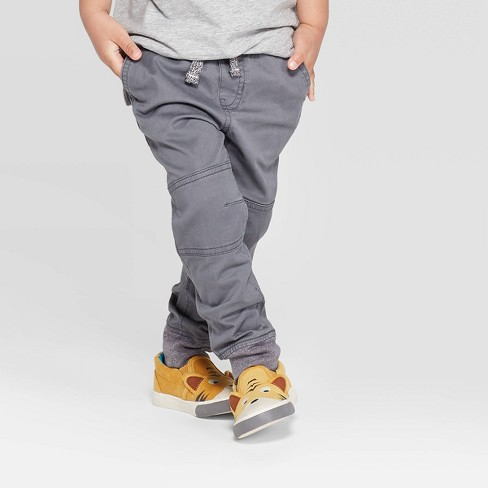 Toddler Boys' Pull-on Pants - Cat & Jack™ Gray - image 1 of 3