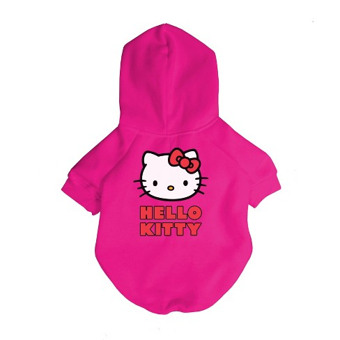 Fresh Pawz Hello Kitty Logo Dog Hoodie - Pink - image 1 of 1