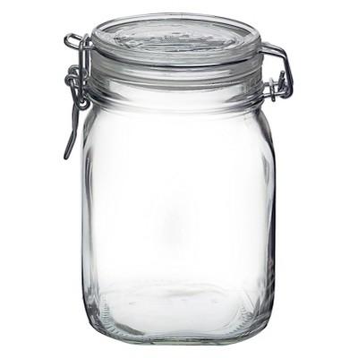 Fido 1 Liter Clamp Jar - Clear - Bormioli Rocco
