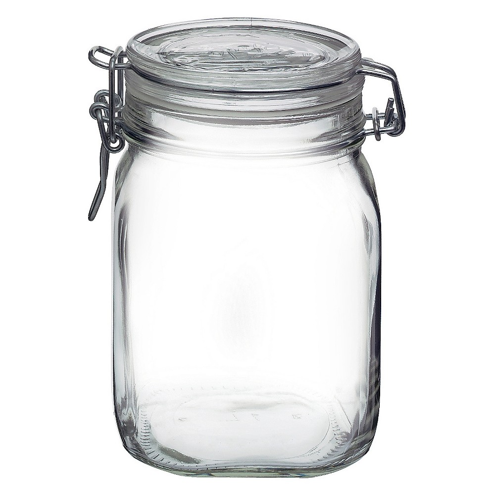 Image of Fido 1 Liter Clamp Jar - Clear - Bormioli Rocco
