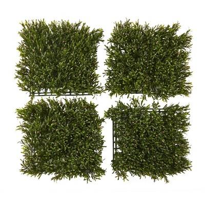 Nearly Natural Set of 4 Rosemary Artificial Wall Mat