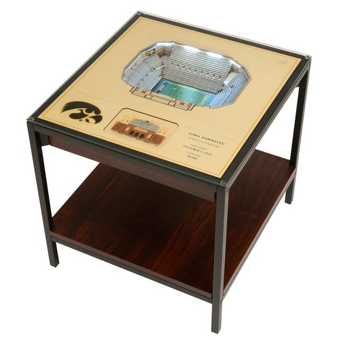 NCAA Iowa Hawkeyes 25 Layer Lighted StadiumView End Table - image 1 of 5