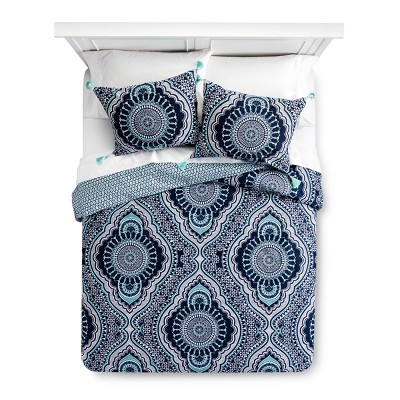 Blue Akina Duvet Cover Set (Queen)- Mudhut™