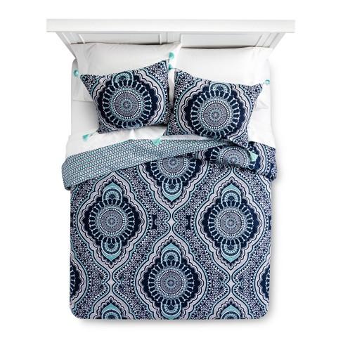 Blue Akina Duvet Cover Set - Mudhut™ - image 1 of 3