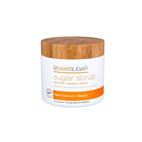 Raw Sugar Raw Coconut Mango Sugar Scrubs 15oz Target